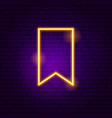 bookmark neon sign vector image vector image