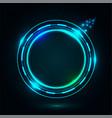 bright circle frame on dark night vector image vector image