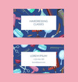 business card template with hairdresser