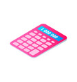 calculator cartoon isolated single icon vector image vector image
