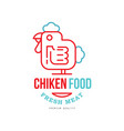 chicken food logo design fresh meat premium vector image vector image