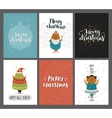 Christmas and New year cards collection vector image vector image