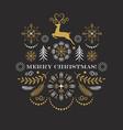 christmas deer merry christmas greeting card vector image vector image