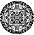 Circular pattern of traditional motifs vector image vector image