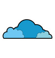 cloud silhouette isolated icon vector image vector image