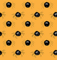Cute spider seamless pattern cartoon hand drawn