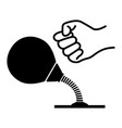 desktop punching bag vector image