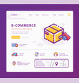 e-commerce and delivery service landing page vector image