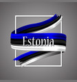 estonia flag national colors estonian 3d vector image