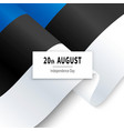 estonian independence day tricolor for web vector image vector image