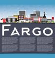 fargo north dakota city skyline with color vector image vector image