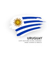 flag uruguay brush stroke design isolate vector image vector image