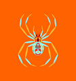 flat on background of halloween spider vector image