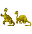 Green dinosaurs with long necks vector image vector image