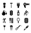 hairdresser icons set simple style vector image vector image