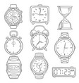 hand drawn wristwatch doodle sketch watches vector image vector image