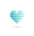 Heart symbol logo icon design template May be used vector image vector image