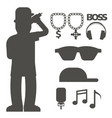 hip hop man accessory musician accessories vector image