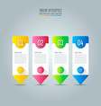 infographic design business concept with 4 vector image vector image