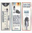 Karaoke retro banner set vector image
