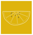 Lemon wedge vector image