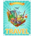 Lets Go Travel Poster vector image vector image
