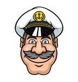 Moustached sailor or ship captain vector image