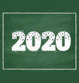 new year 2020 vector image