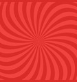 red abstract spiral ray pattern background vector image vector image