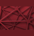 red background of tangled lines with intersection vector image