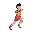 running man avatar icon image vector image vector image