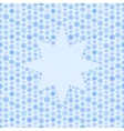 Seamless blue color pattern snowflake or star vector image vector image