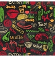 seamless pattern mexican food with vector image vector image
