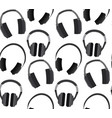seamless texture with flat headphones on a white vector image vector image