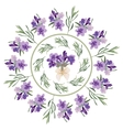 Set festive frames and elements with Lavender vector image vector image
