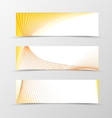 Set of banner smooth design vector image vector image