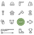 Set of Outdoor Hunting Elements can be used as vector image vector image