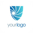 shield guard logo vector image vector image