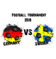 soccer game germany vs sweden vector image vector image