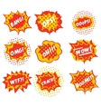 Sound effects are comic style pop art vector image
