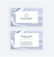 stylish marble texture business card design vector image vector image