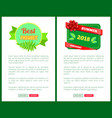 summer discount 2018 sale flyers set push buttons vector image vector image