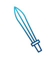 sword antique weapon vector image vector image