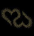 two heartsl vector image
