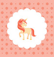 unicorn pink mane flat vector image vector image