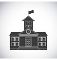 university building classic icon vector image vector image