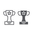 winner cup line and glyph icon champion and vector image vector image