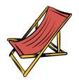 wooden beach chaise icon cartoon vector image vector image