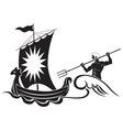 Poseidon vector image
