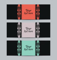 Vintage set labels vector image